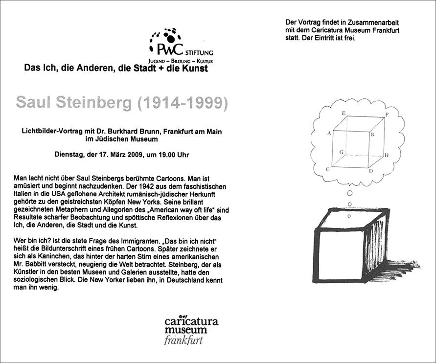 Lecture: Saul Steinberg, Invitation